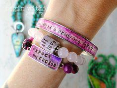 Inspirational bracelets by BeginWithinJewelry on #etsy | #etsyjewelry #shopetsy
