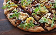 The Bojon Gourmet: Fresh Fig Flatbread with Goat Cheese and Arugula