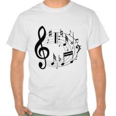 Playeras Notas Musicales | Camisetas Notas Musicales personalizadas