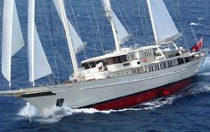 Pegasus built in Denmark 258 ft long and she has got some beautiful lines!