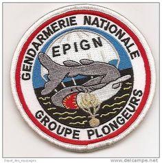 RARE   ANCIEN   PATCH   GENDARMERIE   E.P.I.G.N.    PLONGEURS - Police & Gendarmerie