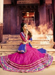 Pink Net Wedding Lehenga Choli 79851