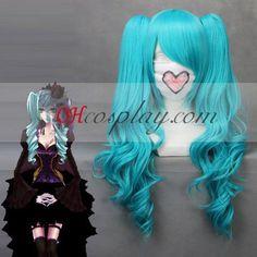 Vocaloid Miku Blue Cosplay Wave Wig