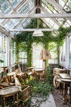 now this gives me ideas... what would a coffee/tea cafe be like in a greenhouse? I'm sensing an Alice-in-Wonderland vibe here.