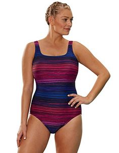 10f267a741653 Introducing Aquabelle Womens Plus Size Chlorine Resistant Rapids Tank  Swimsuit 22 Multi. Get Your Ladies