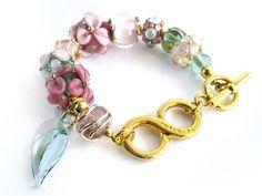 Infinity Armband m. handgewicklten Glasperlen von glückskind-design auf DaWanda.com