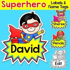 These fun superhero kids name tags labels will look fantastic in your classroom! This set is so versatile because you can make any labels that you want with the included blank labels and editable PowerPoint file. These would make great bin or basket label