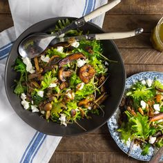 Mushrooms are incredibly versatile. Here, we sauté them until deeply golden brown, then pair their savory flavor with hearty kale leaves and a nutty sherry vinegar dressing. It's an easy vege…