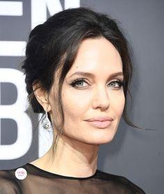 Angelina Jolie's Forevermark earrings at the 2018 Golden Globes