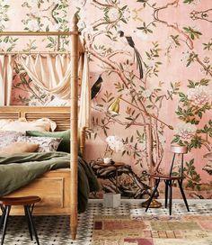 Pastel Pink Wallpaper for Walls, Magnolia Mural, Garden Wallpaper Decor Pink Wallpaper For Walls, Pastel Pink Wallpaper, Wall Wallpaper, Wallpaper Designs, Modern Wallpaper, Pink Wallpaper Interior, Wallpaper For House, Bedroom Wallpaper Accent Wall, Oriental Wallpaper