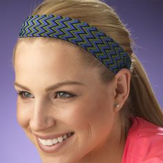 chicabands.com   They are the best hair bands! They are not too tight, and they never slip while you are working out. Plus they are super cute! Highly recommended!