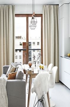 Small Living Rooms, Living Room Decor, Scandinavian Apartment, Scandinavian  Living, Dining Room