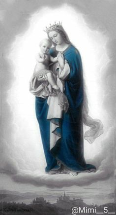Salud de los enfermos. Blessed Mother Mary, Divine Mother, Blessed Virgin Mary, Madonna Art, Madonna And Child, Religious Images, Religious Art, Jesus E Maria, Christian Warrior