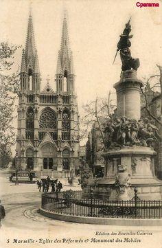 Marseille - Monuments et Statues Old Paris, Vintage Paris, Monuments, Statues, Rhone, Barcelona Cathedral, Big Ben, Taj Mahal, France