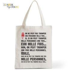 Tote Bag Rock my Citron, Odile, La Cité de la Peur, Cadeaux Fêtes, Anniversaires