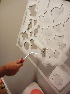 Wall Stencil from http://betterafter.blogspot.com/2011_09_01_archive.html#