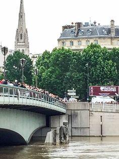 La Seine en forte crue à Paris #CrueSeine #CrueParis http://www.pariscotejardin.fr/2016/06/la-seine-en-forte-crue-a-paris/