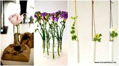 We love flowers and the beauty they convey to any place. For the ones that share this passion, we selected 11 DIY unique test tube flower vases