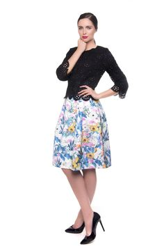 Darcy Printed Skirt www. Printed Skirts, Summer 2016, Summer Collection, Floral, Prints, Fashion, Moda, Fashion Styles, Flowers