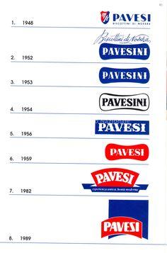 Evoluzione del marchio Pavesi nel tempo
