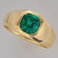 Emerald Diamond Ring for Jyotish (Vedic Astrology) & Ayurveda