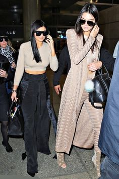 jenners-sisters:  November 19: Kendall and Kylie at LAX in LA