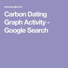 Carbon Dating Graph Activity - Google Search