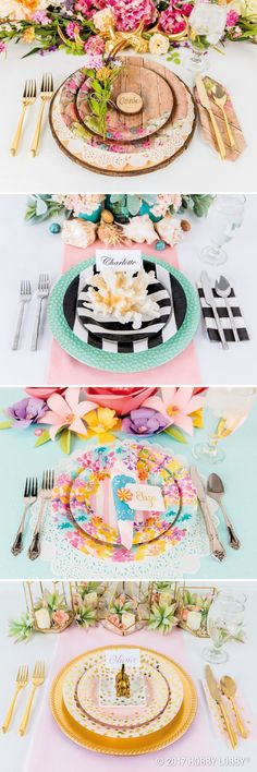 Create pretty place settings worth swooning over!