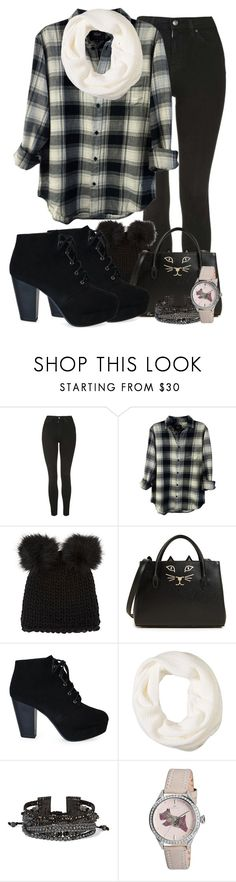 """""""Fall for Scarves"""" by tlb0318 on Polyvore featuring Topshop, Rails, Barneys New York, Charlotte Olympia, Calvin Klein, Chan Luu and Radley"""