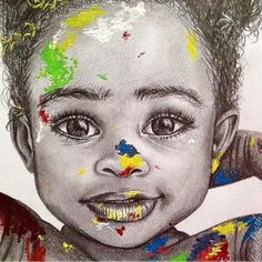 Baby drawing | baby portrait | baby art