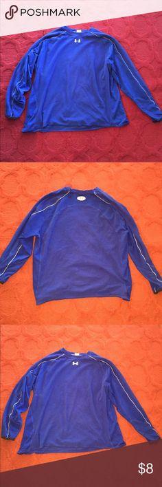 Under Armour Men s Royal Blue Long Sleeve Shirt Men s Under Armour Shirt  Royal Blue Size XXL 03f5a8233