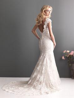 Lace Wedding Dresses Straps Chapel Train $239.99