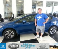 Brandon was very helpful in the buying process. I was able to quickly find the right car for a reasonable price and avoided the long car buying process. - BLAKE PHILLIPS,Saturday, August 30, 2014 http://www.fentonhondaoflongview.com/?utm_source=Flickr&utm_medium=DMaxxPhoto&utm_campaign=DeliveryMaxx