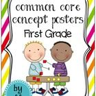 Common Core Posters to make learning easy and brighten up your first grade classroom!   Use these colorful Common Core Concept Posters to introduce...