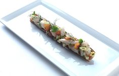 Razor clams with spring onions and almond - Adam Stokes