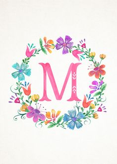 TCM-Floral-Wreath-Monograms-5x7-M.jpg (1500×2100)
