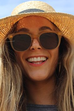 Meet your go-to summer sunglasses: the TOMS Dodoma in sand crystal.