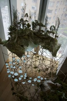 New work from Gregory Euclide nature miniature installation