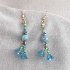 Turquoise Glass Earrings   SER37