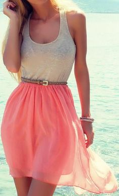 Summer Perfection with Pink Skirt