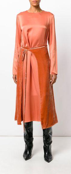 CÉDRIC CHARLIER  wrap skirt midi dress, explore the latest arrivals on Farfetch now.