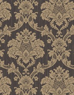 about European style Vintage Classic Black&Gold Damask Feature Wallpaper Roll Vintage Classic Intricate Flocking Damask Design Wallpaper Roll Royal Wallpaper, Paisley Wallpaper, Classic Wallpaper, Fish Wallpaper, Cheap Wallpaper, Feature Wallpaper, Love Wallpaper, Designer Wallpaper, Pattern Wallpaper
