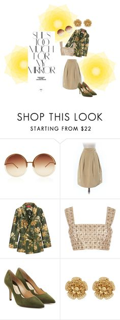 """""""SunnyFallDay"""" by becky-winfield-watson ❤ liked on Polyvore featuring Rika, Linda Farrow, Banana Republic, F.R.S For Restless Sleepers, Oscar de la Renta, Paul Andrew and Miriam Haskell"""