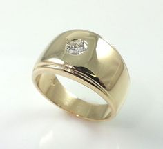 0.40CT MENS 14K GOLD DIAMOND BAND * GENUINE DIAMOND 14K GOLD SIZE 7 PINKY RING  #Band