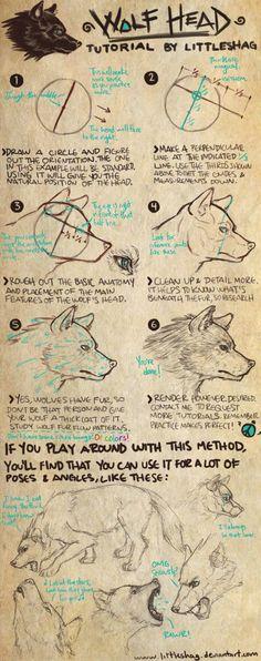 Wolf Head- TUTORIAL by soas95.deviantart.com on @deviantART: