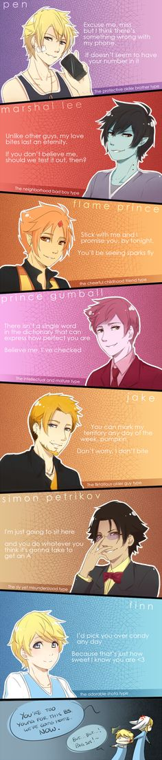 If AT was a dating game (REMADE) by Katkat-Tan on DeviantArt