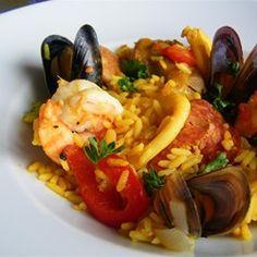 Traditionele paella