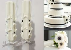 Black and white wedding style, and perfect matching candles for this style!