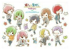Hyouka, Horimiya, Anime Naruto, Anime Manga, Anime Characters Birthdays, Manga Rock, Anime Stickers, Anime Poses, Shoujo