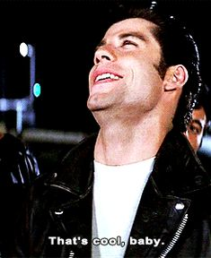 """33 Facts About """"Grease"""" That Might Just Blow Your Mind Danny Zuko, Travolta Gif, John Travolta, Grease 1978, Grease 2, Iconic Movies, Old Movies, Pixar Movies, Grease Quotes"""